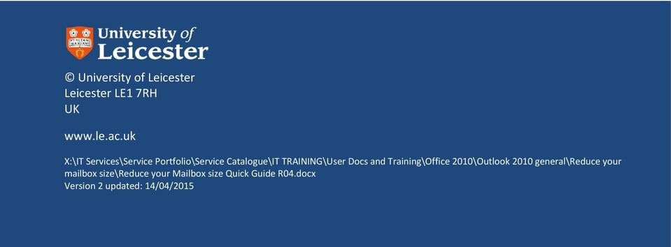 TRAINING\User Docs and Training\Office 2010\Outlook 2010