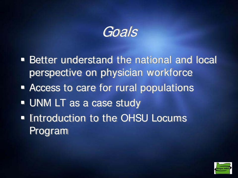 Access to care for rural populations UNM LT