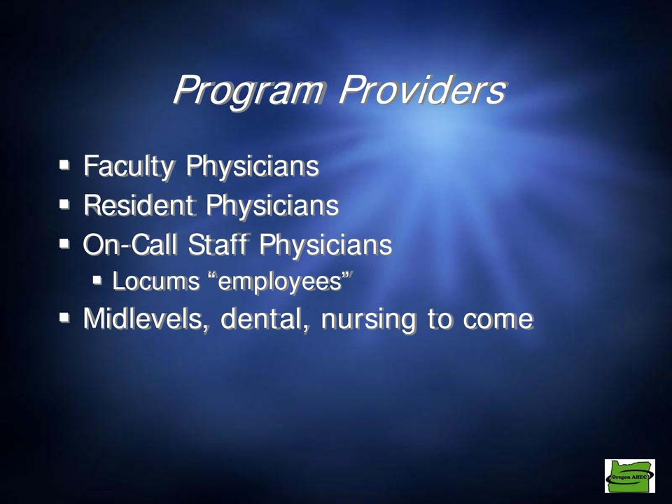 On-Call Staff Physicians Locums