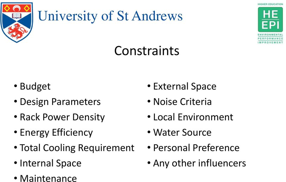 Space Maintenance External Space Noise Criteria Local