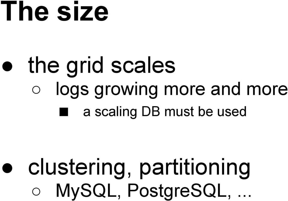 scaling DB must be used
