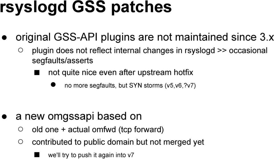 nice even after upstream hotfix no more segfaults, but SYN storms (v5,v6,?