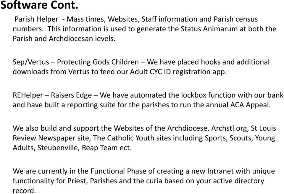 Archdiocese of St Louis  IT as a Service - PDF