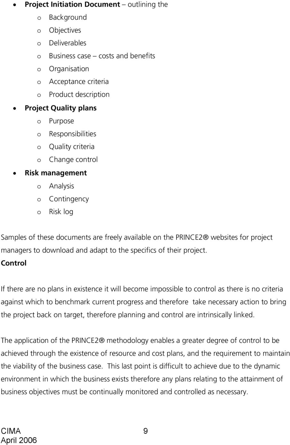 An Introduction to the PRINCE2 project methodology by Ruth Court ...