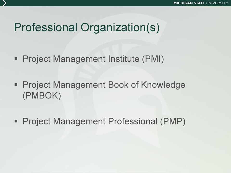 Management Book of Knowledge (PMBOK)