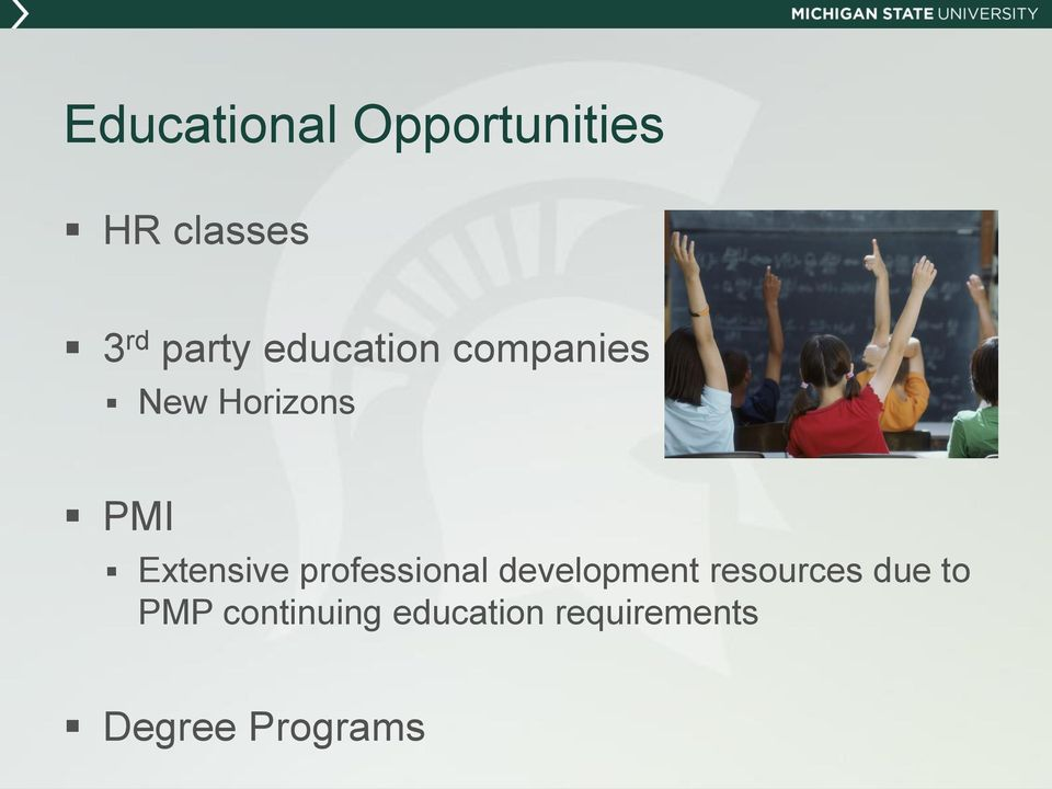 professional development resources due to PMP