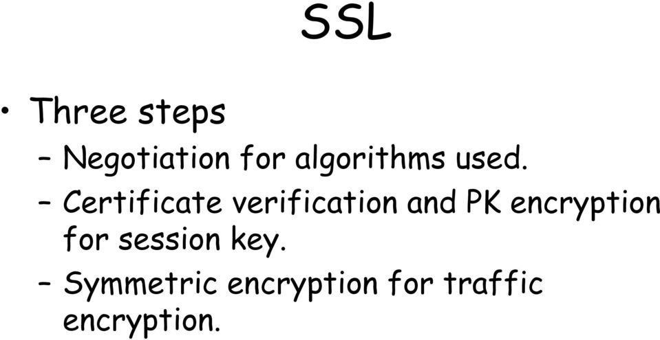 Certificate verification and PK