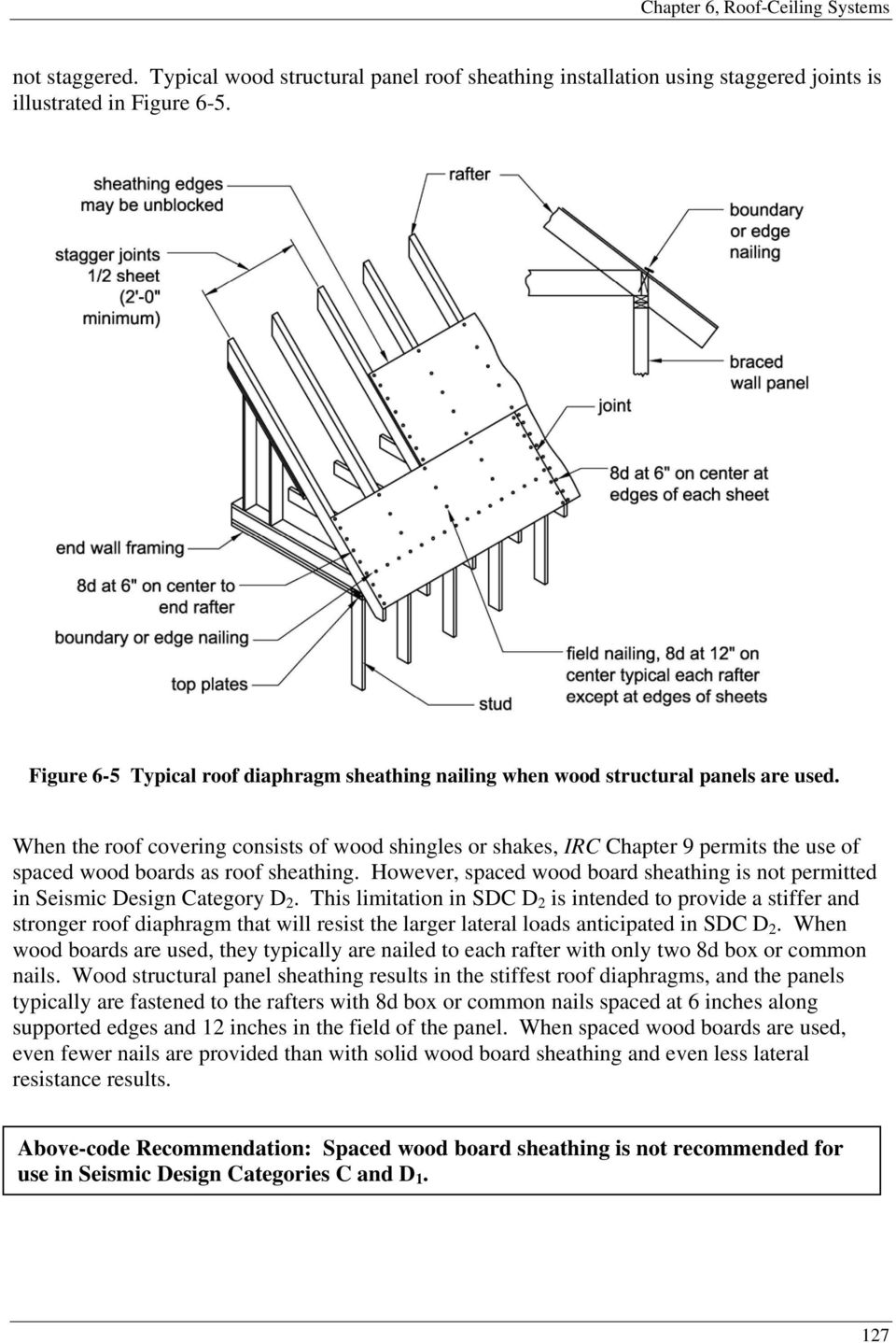 When the roof covering consists of wood shingles or shakes, IRC Chapter 9 permits the use of spaced wood boards as roof sheathing.