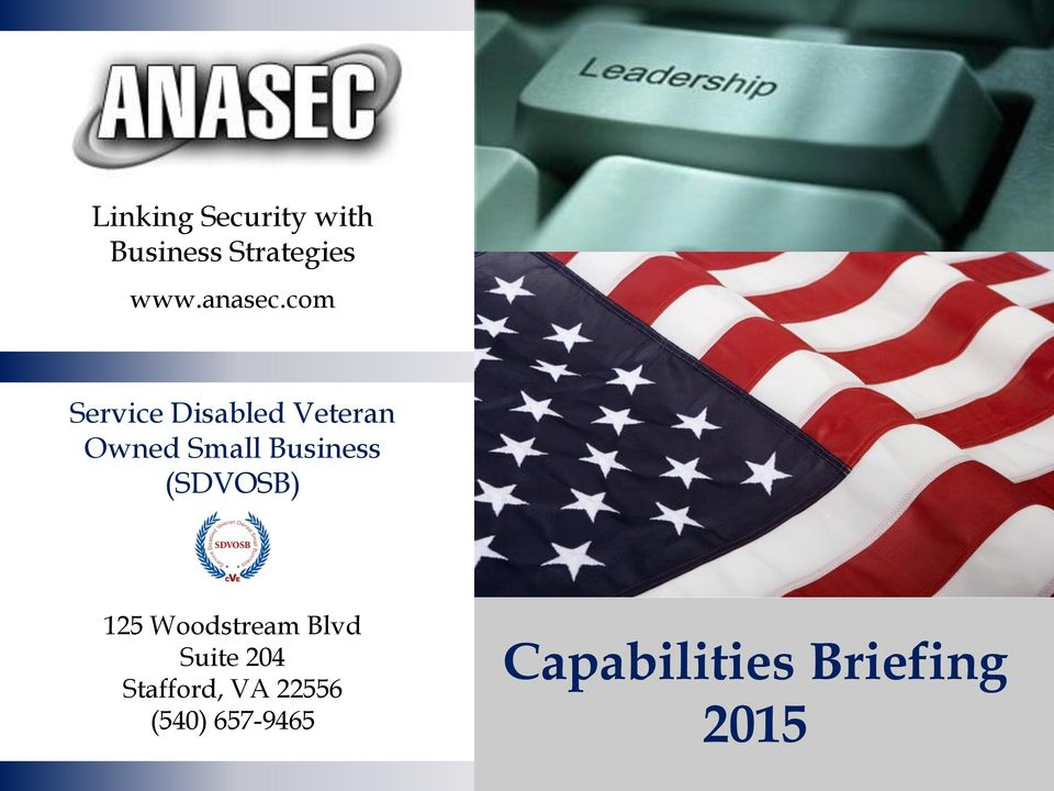 Capabilities Briefing Pdf