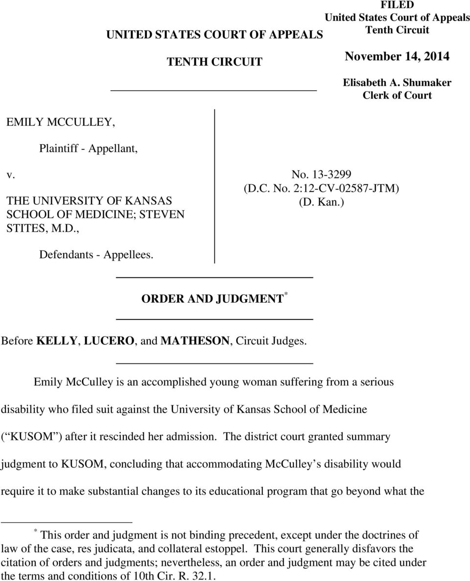 ORDER AND JUDGMENT * Before KELLY, LUCERO, and MATHESON, Circuit Judges.