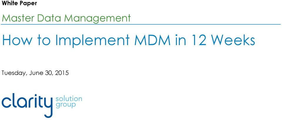 Implement MDM in 12