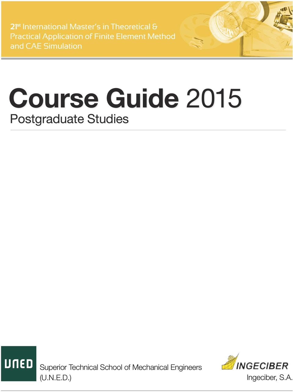 Course Guide 2015 Postgraduate Studies Superior