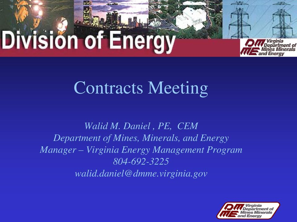 Minerals, and Energy Manager Virginia