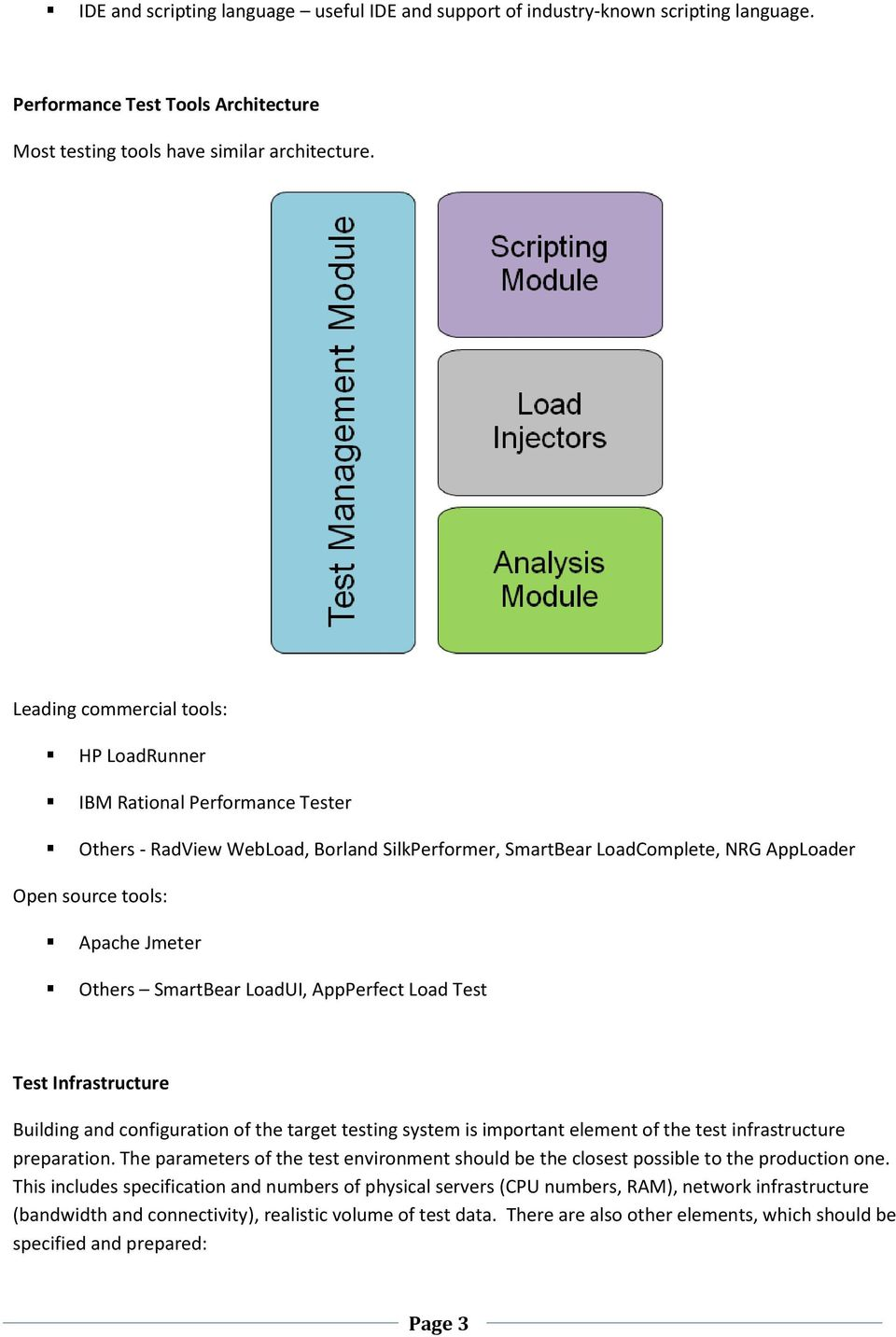 SmartBear LoadUI, AppPerfect Load Test Test Infrastructure Building and configuration of the target testing system is important element of the test infrastructure preparation.