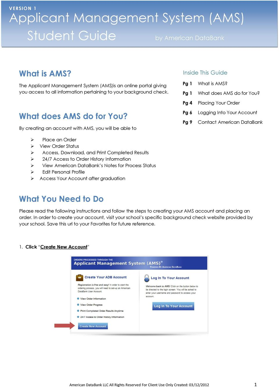 What does AMS do for You?
