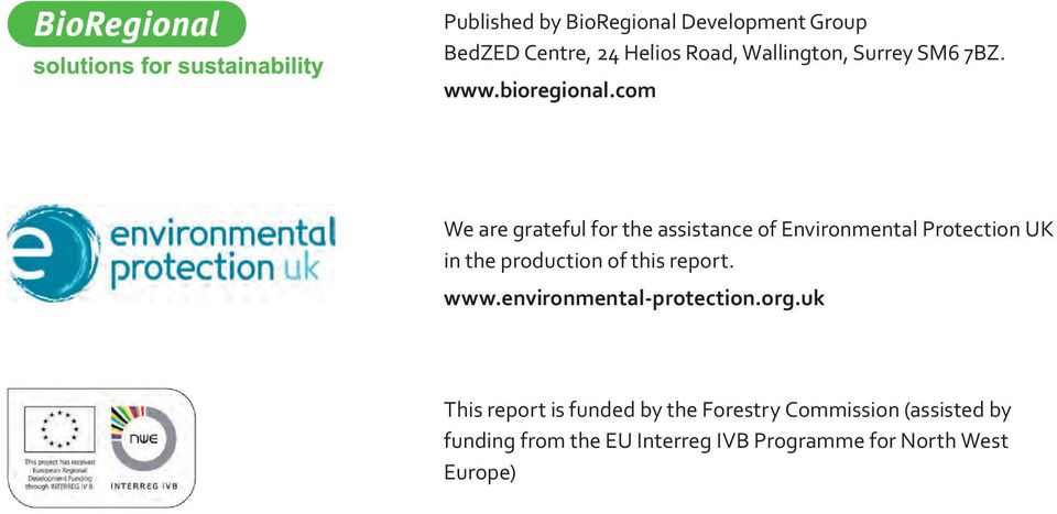 com We are grateful for the assistance of Environmental Protection UK in the production of this