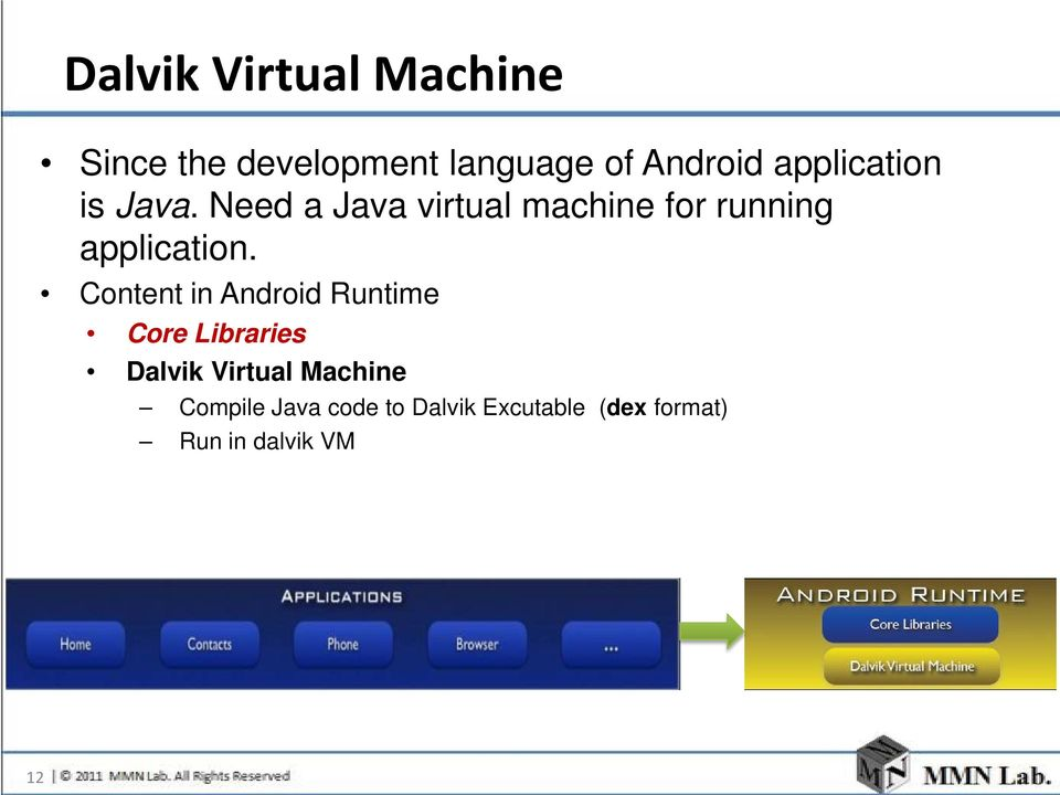 Need a Java virtual machine for running application.