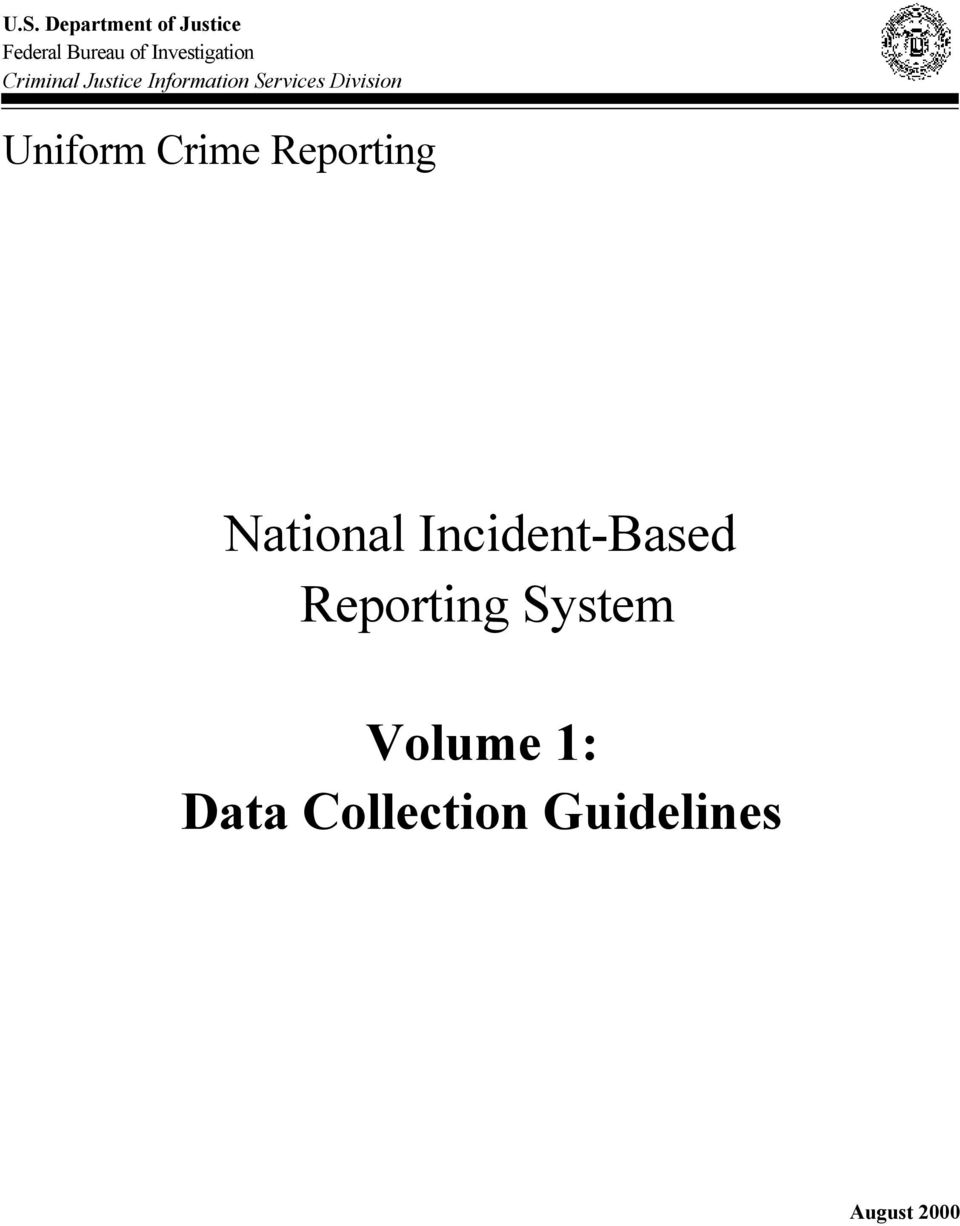 Division Uniform Crime Reporting National