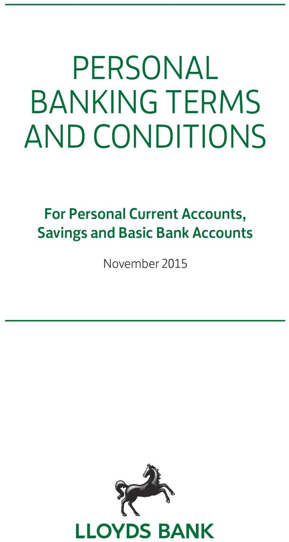 Current Accounts, Savings