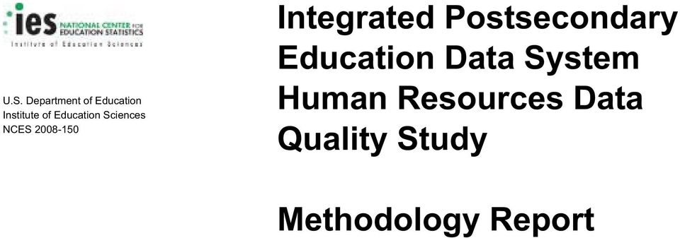 Postsecondary Education Data System Human