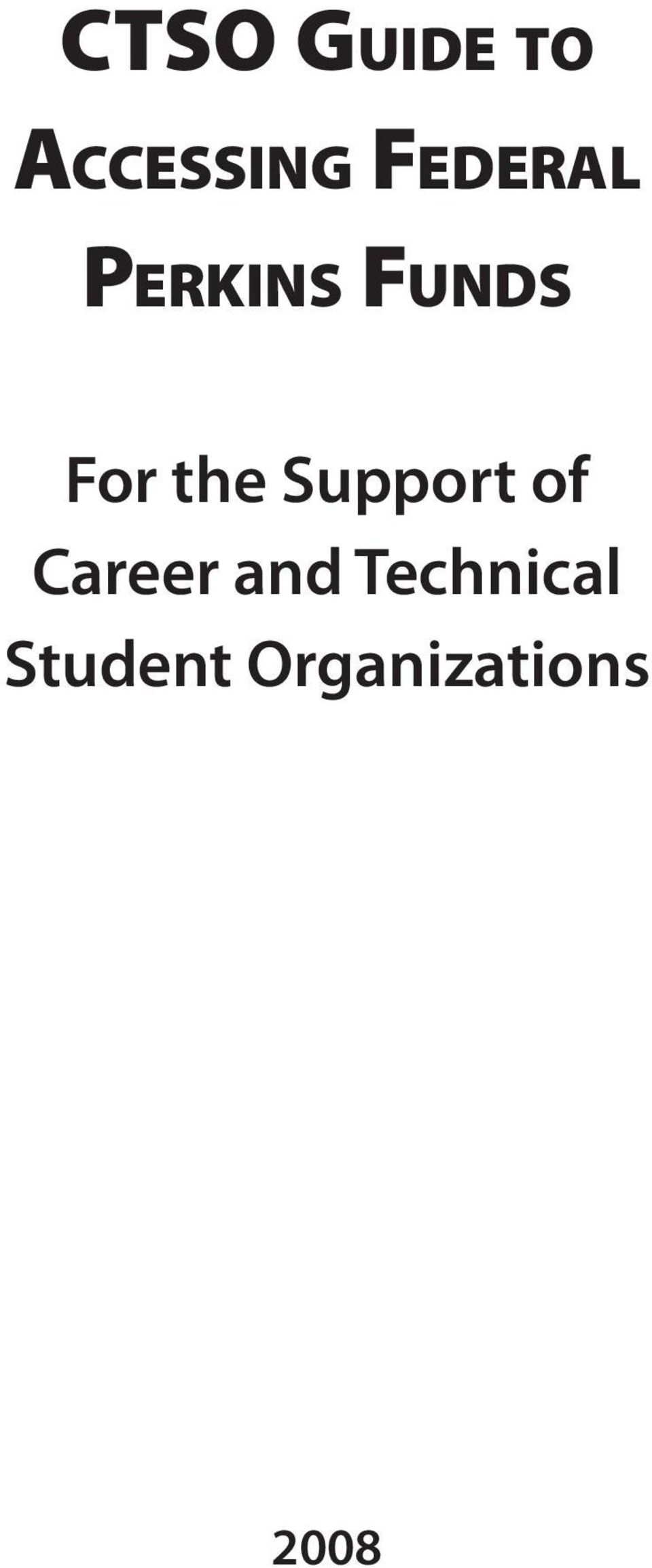 For the Support of Career and