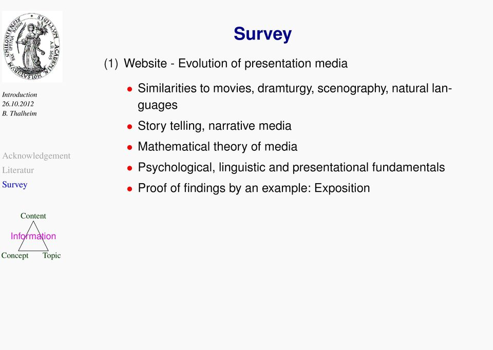 narrative media Mathematical theory of media Psychological,