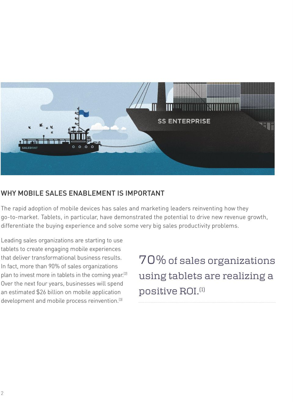 Leading sales organizations are starting to use tablets to create engaging mobile experiences that deliver transformational business results.