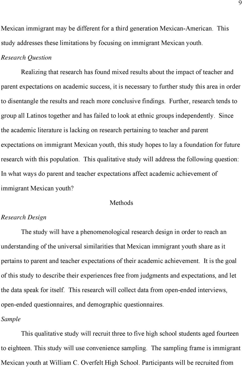 disentangle the results and reach more conclusive findings. Further, research tends to group all Latinos together and has failed to look at ethnic groups independently.