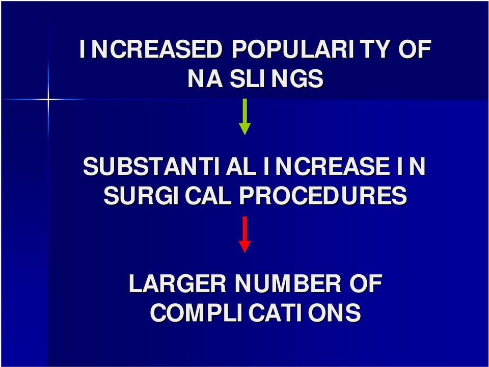 INCREASE IN SURGICAL