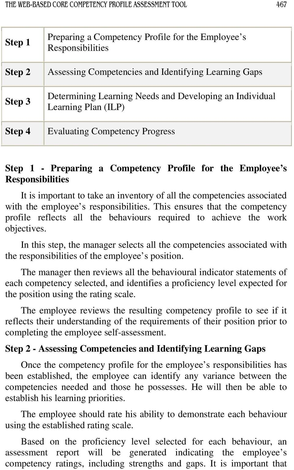 is important to take an inventory of all the competencies associated with the employee s responsibilities.