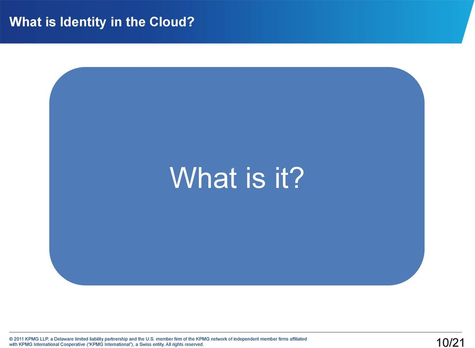 the Cloud?