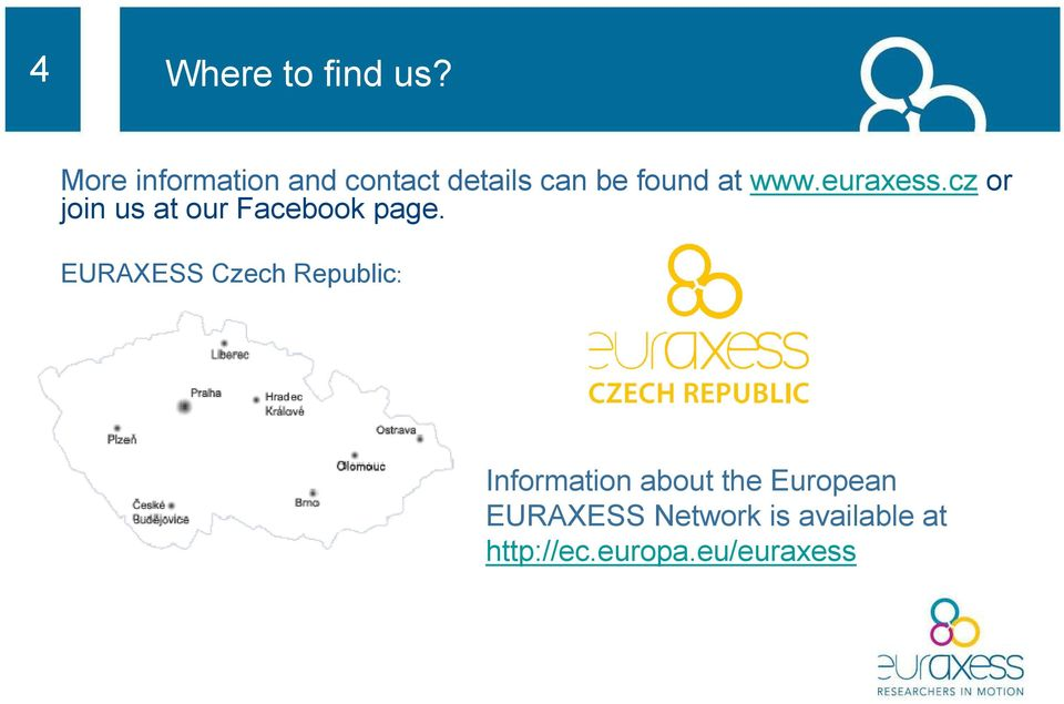 euraxess.cz or join us at our Facebook page.