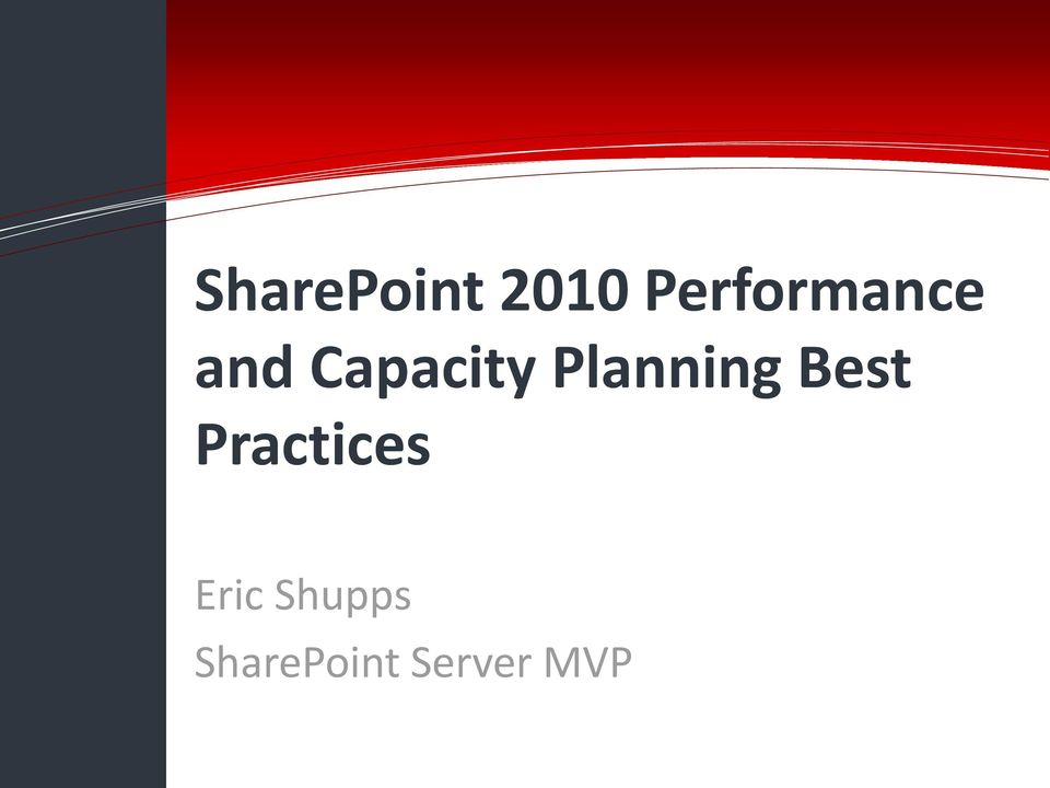 Capacity Planning Best Practices