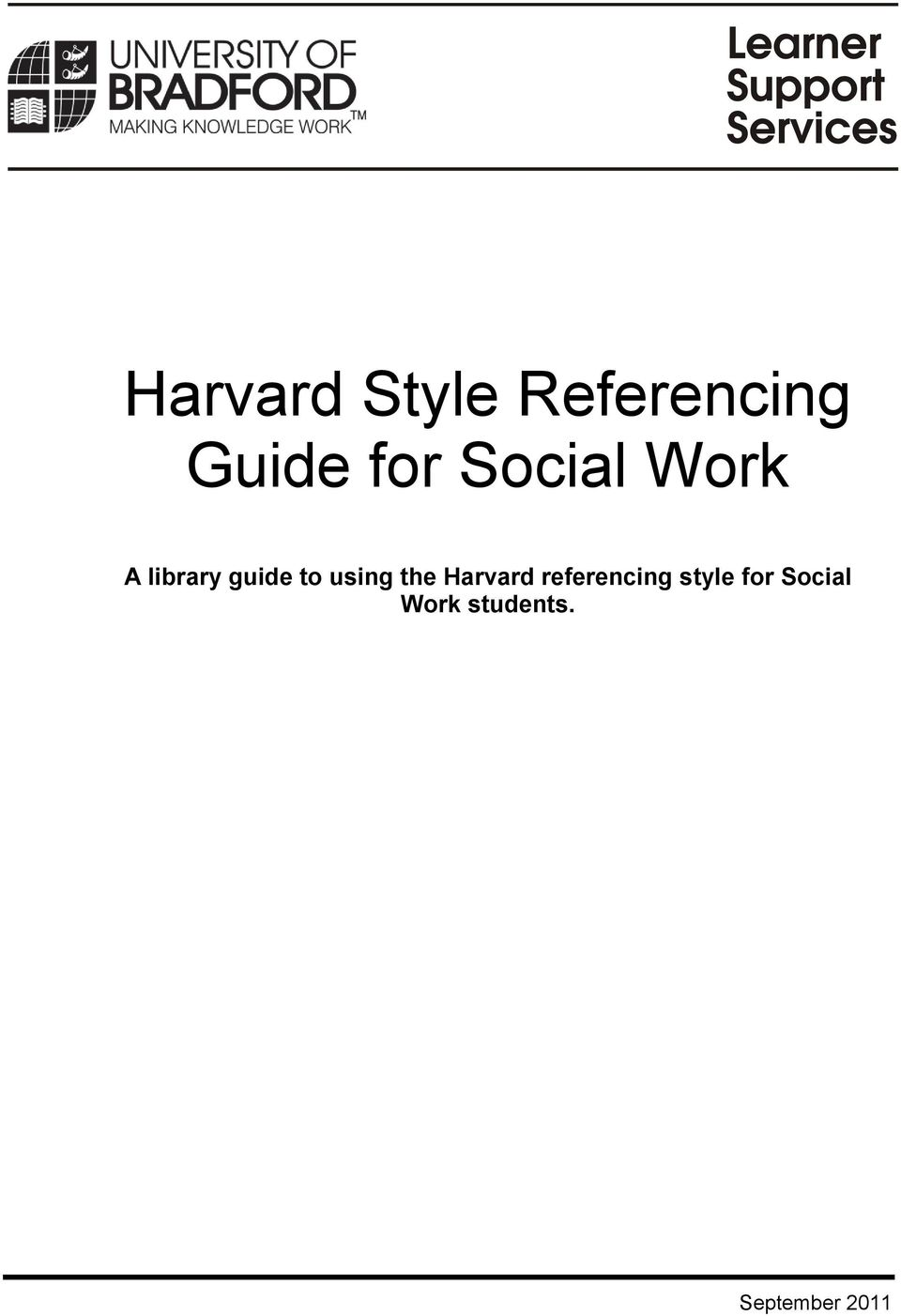 using the Harvard referencing style