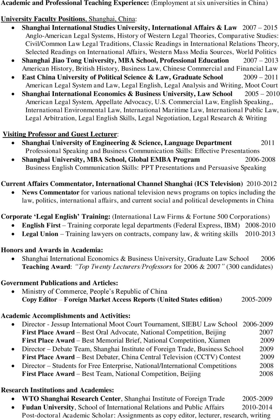 Selected Readings on International Affairs, Western Mass Media Sources, World Politics Shanghai Jiao Tong University, MBA School, Professional Education 2007 2013 American History, British History,