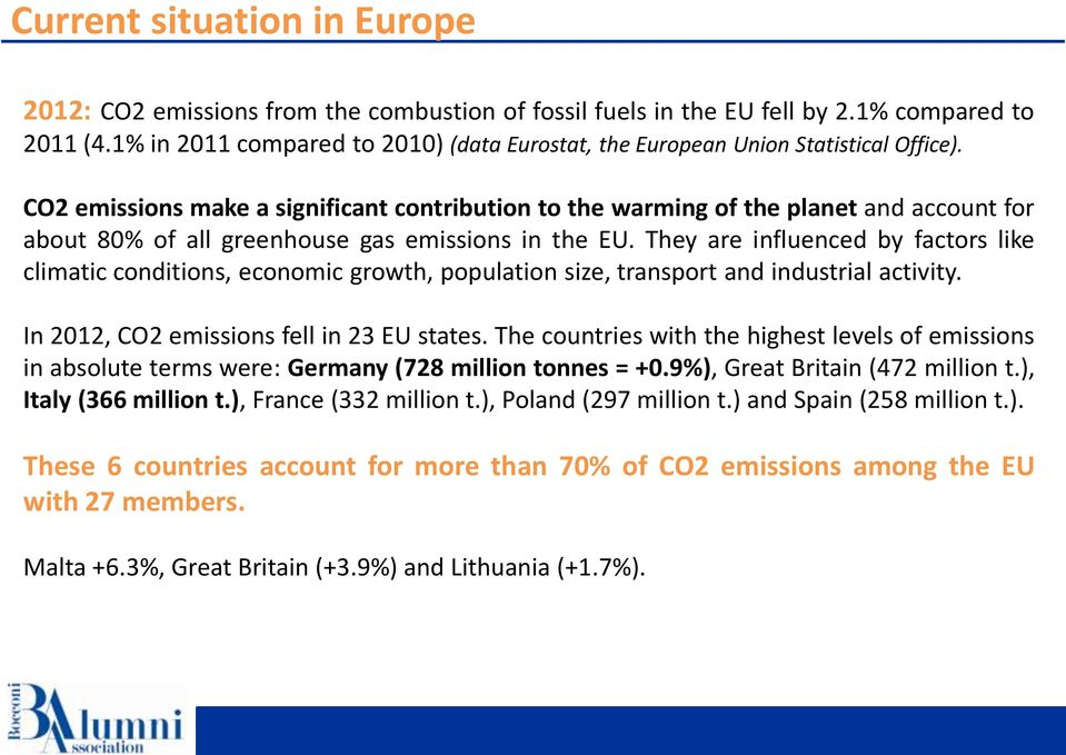 CO2 emissions make a significant contribution to the warming of the planet and account for about 80% of all greenhouse gas emissions in the EU.