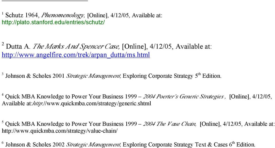 html 3 Johnson & Scholes 2001 Strategic Management, Exploring Corporate Strategy 5 th Edition.