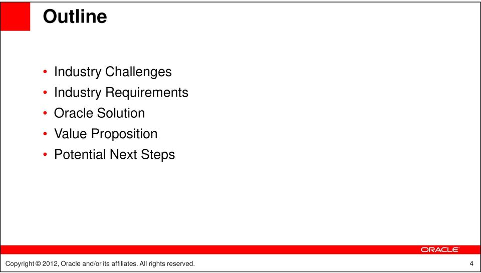 Requirements Oracle
