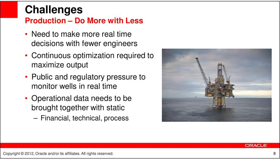 output Public and regulatory pressure to monitor wells in real time