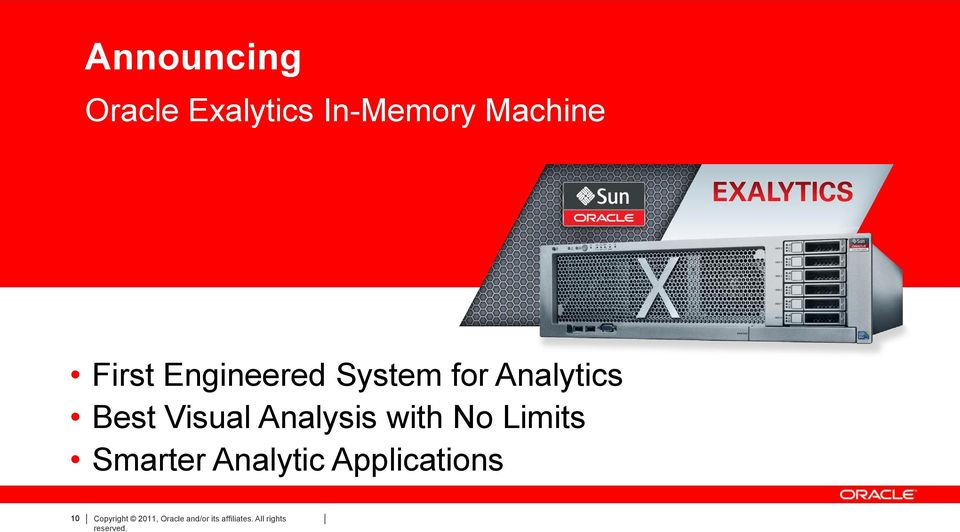 with No Limits Smarter Analytic Applications 10