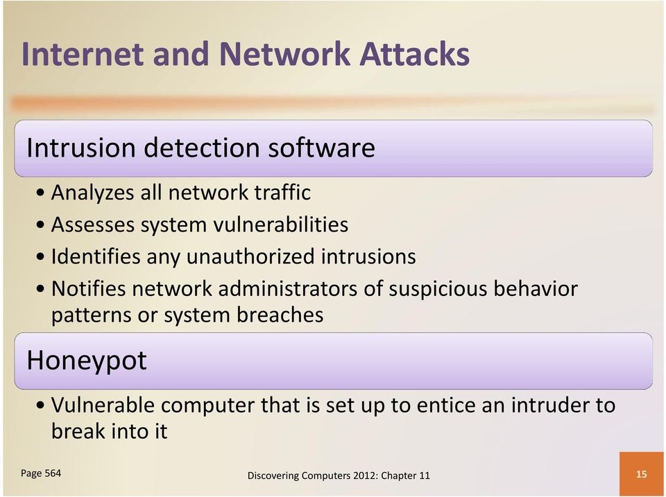 administrators of suspicious behavior patterns or system breaches Honeypot Vulnerable
