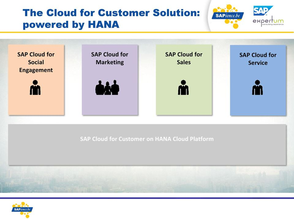 Cloud for Sales SAP Cloud for Service SAP Cloud for