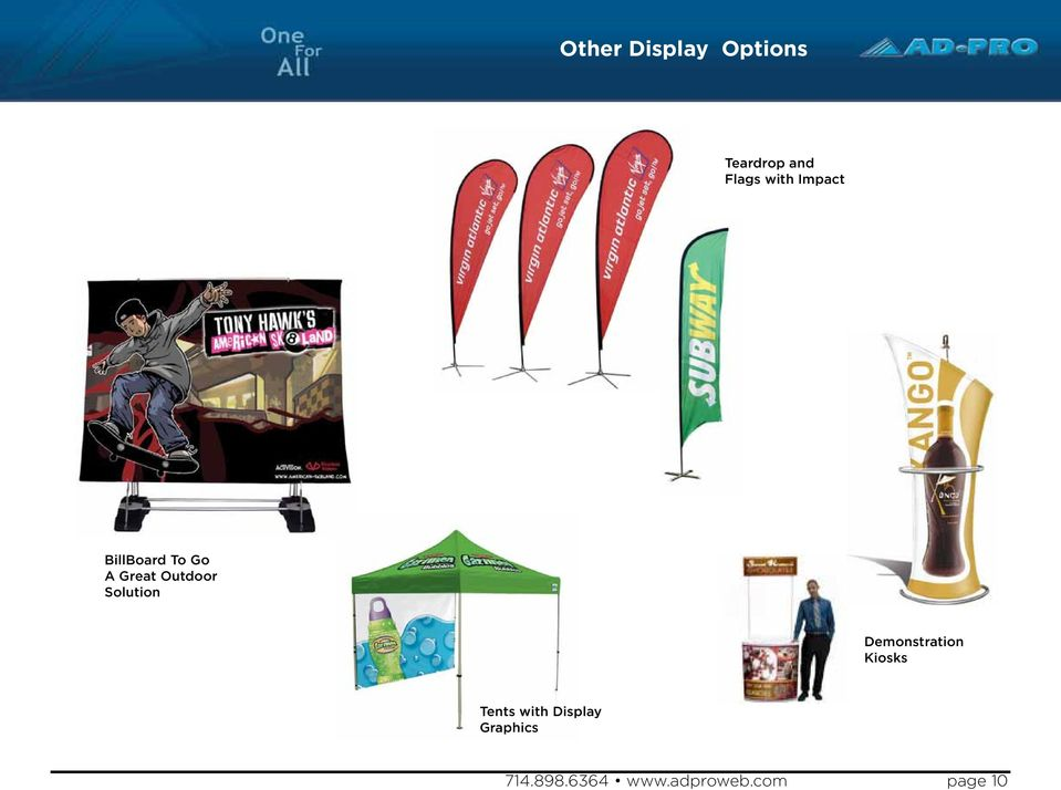 Solution Demonstration Kiosks Tents with