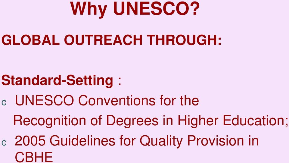 : UNESCO Conventions for the Recognition