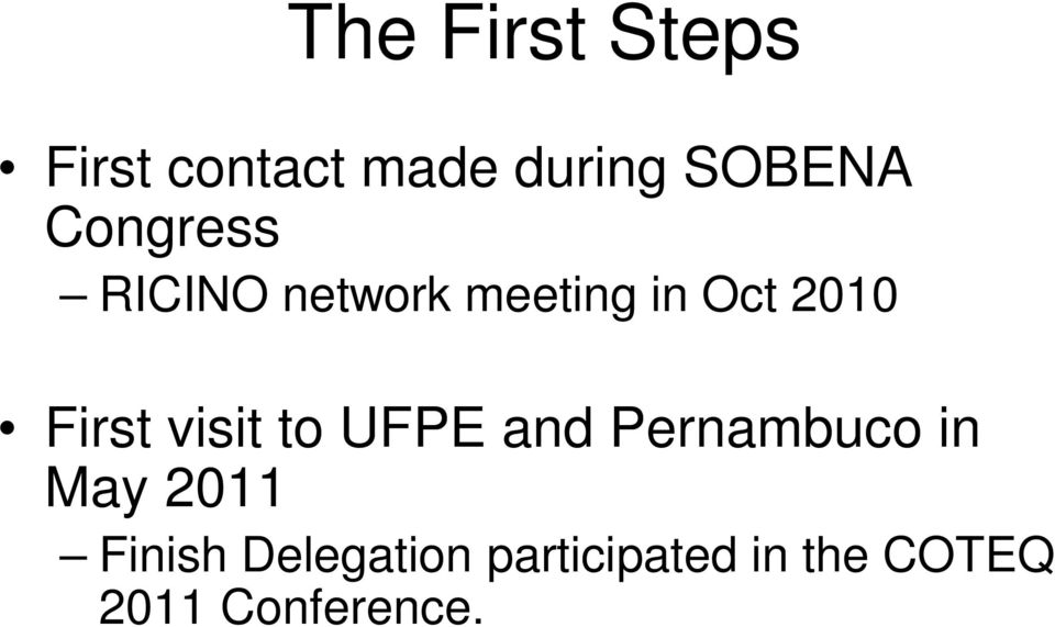 visit to UFPE and Pernambuco in May 2011 Finish