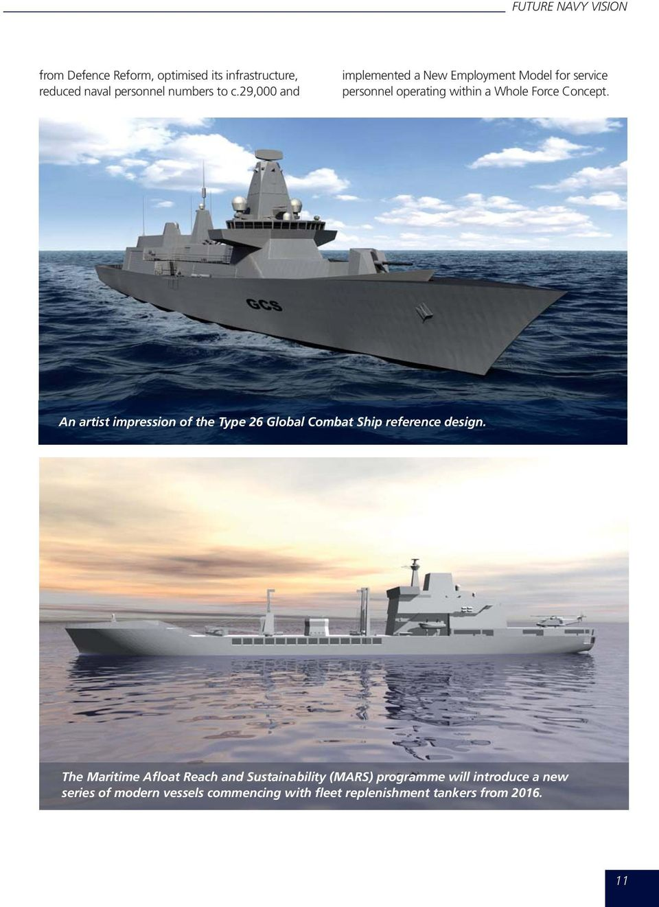 An artist impression of the Type 26 Global Combat Ship reference design.