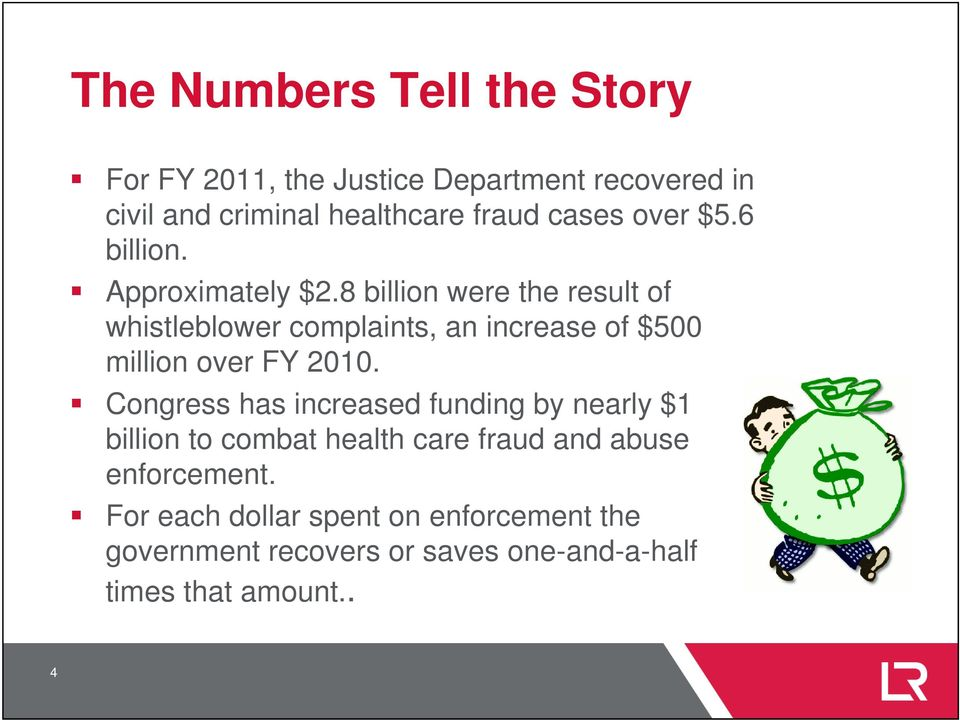 8 billion were the result of whistleblower complaints, an increase of $500 million over FY 2010.