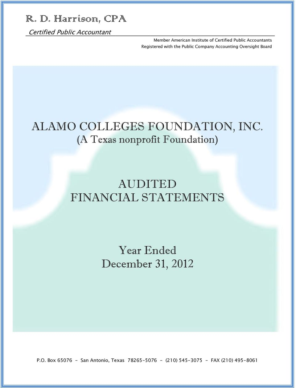 Board ALAMO COLLEGES FOUNDATION, INC.