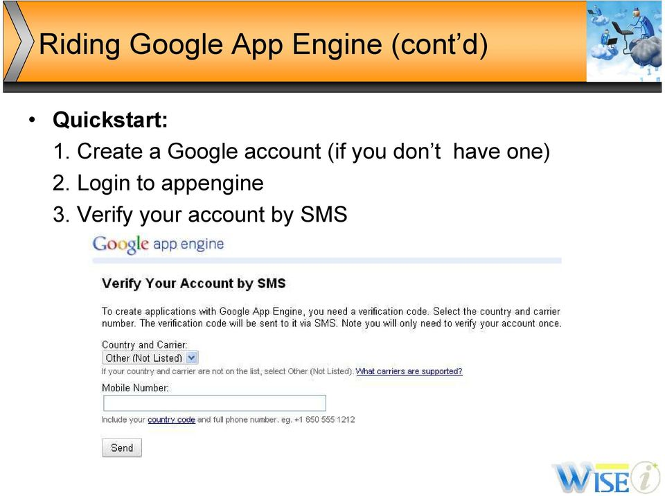 Create a Google account (if you don