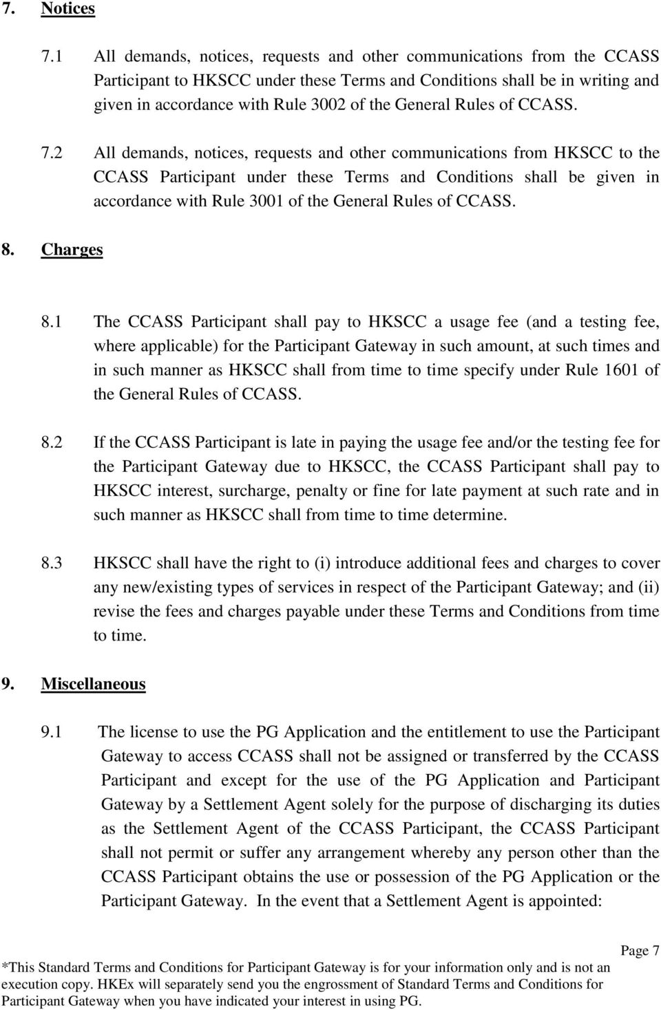 General Rules of CCASS. 7.